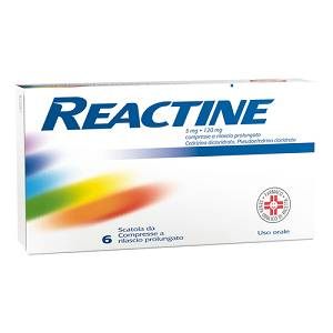 REACTINE*6CPR 5MG+120MG RP